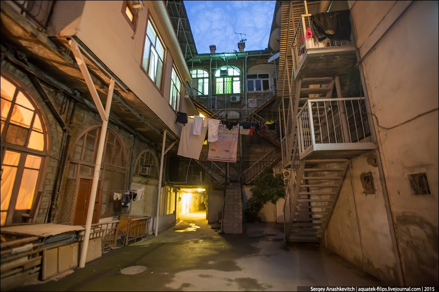 Azerbaijan: Brilliance and poverty on the streets of night Baku - 20