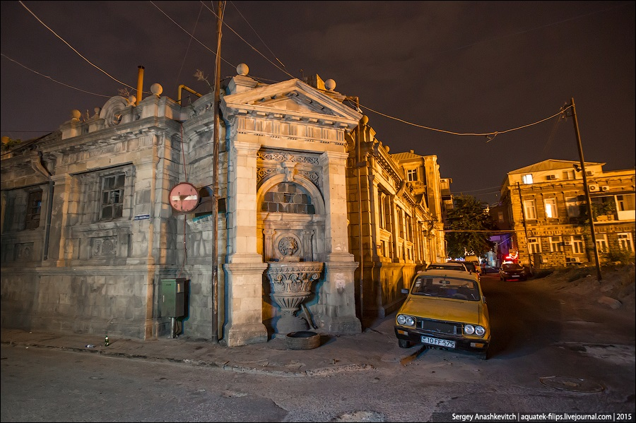 Azerbaijan: Brilliance and poverty on the streets of night Baku - 26