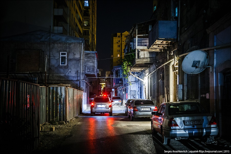 Azerbaijan: Brilliance and poverty on the streets of night Baku - 27