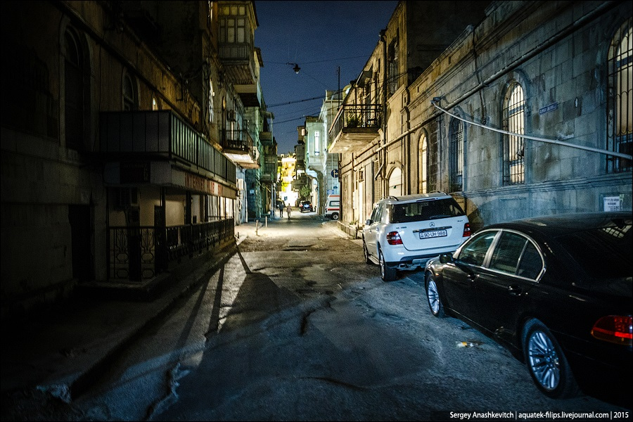 Azerbaijan: Brilliance and poverty on the streets of night Baku - 28