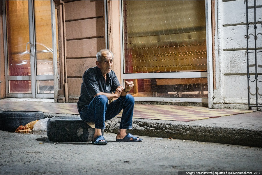 Azerbaijan: Brilliance and poverty on the streets of night Baku - 31