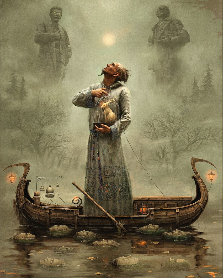 Bleak surrealistic paintings by Russian artist Andrew Ferez - 39