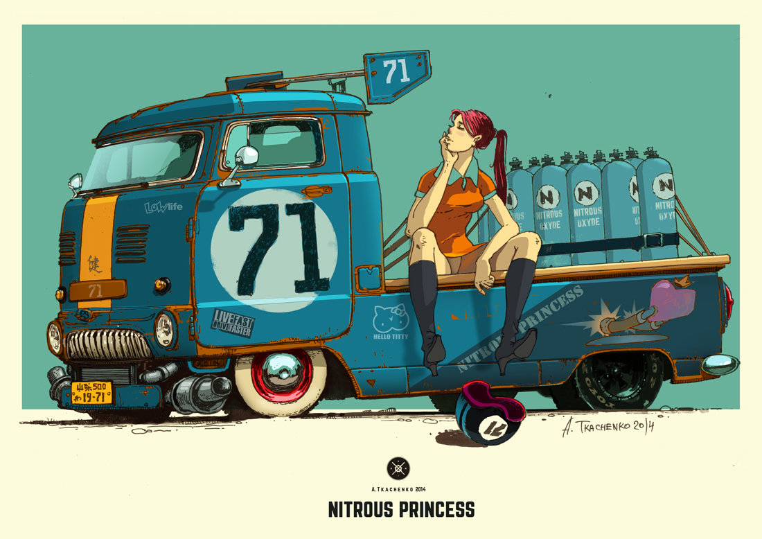 Concepts of Soviet cars on pictures - Nitrous Princess