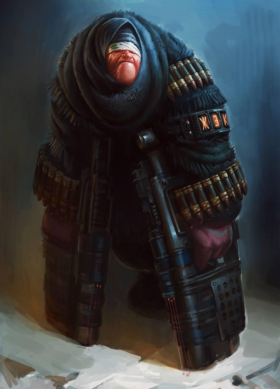 Harsh Russian post-apocalyptic grannies by Eduard Nabiullin - 12