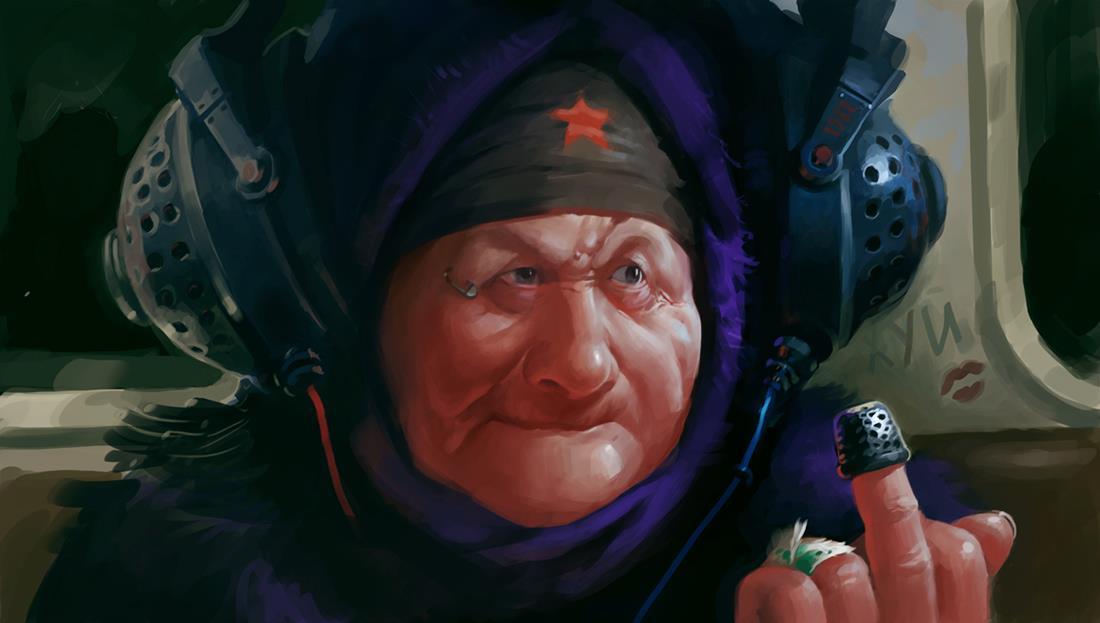 Harsh Russian post-apocalyptic grannies by Eduard Nabiullin - 3
