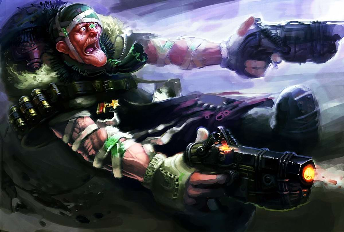 Harsh Russian post-apocalyptic grannies by Eduard Nabiullin - 9