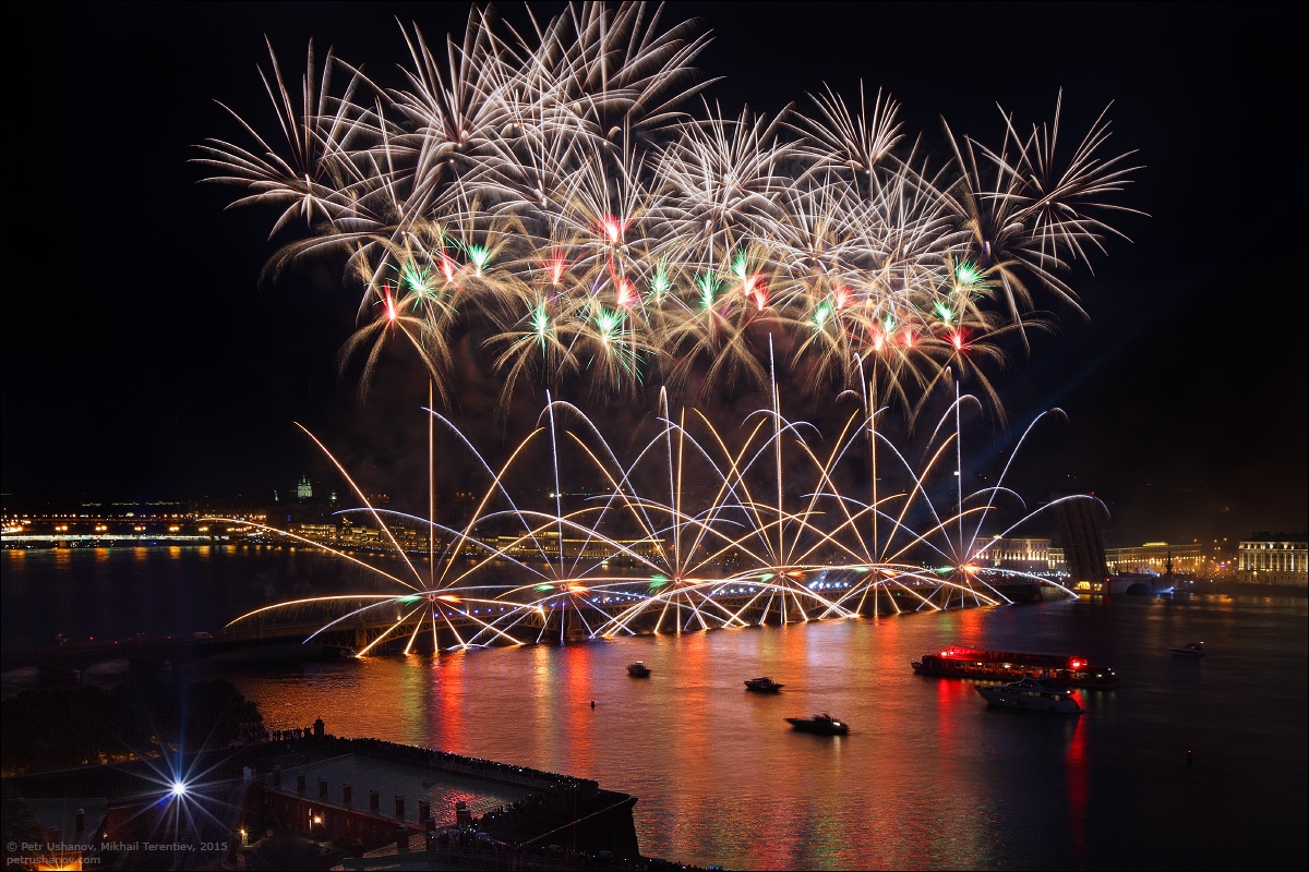 Scarlet Sails 2015: Bright fireworks show in Saint Petersburg - 13