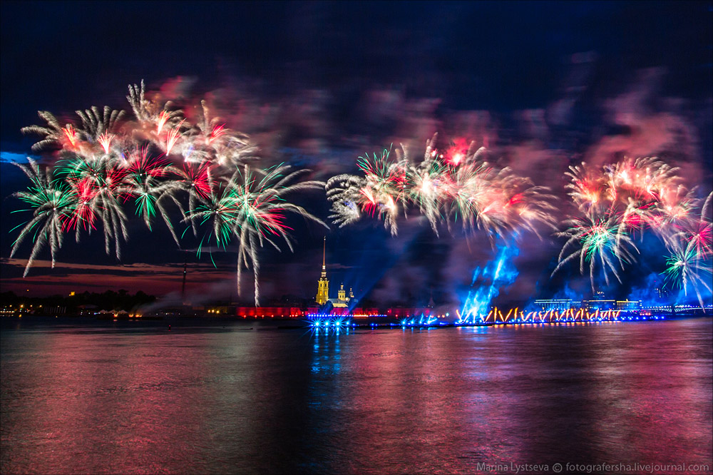 Scarlet Sails 2015: Bright fireworks show in Saint Petersburg - 24