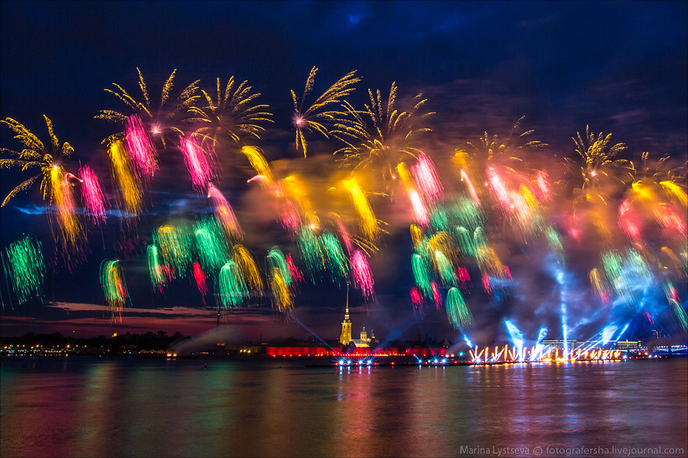 Scarlet Sails 2015: Bright fireworks show in Saint Petersburg - 25