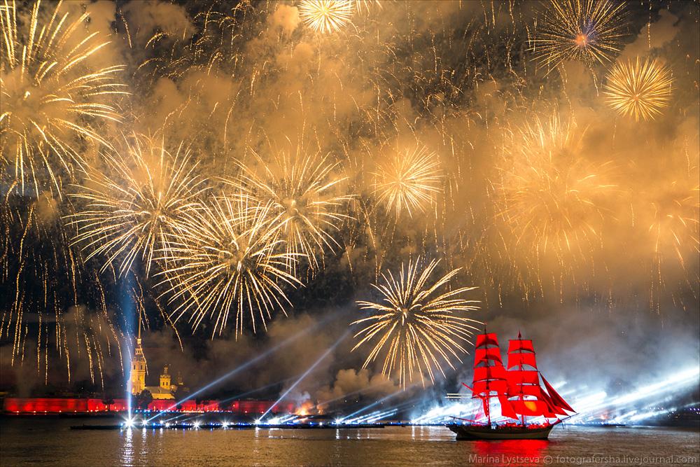 Scarlet Sails 2015: Bright fireworks show in Saint Petersburg - 38