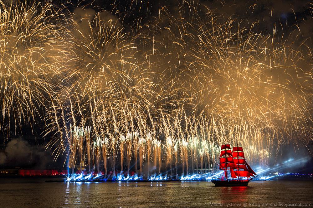 Scarlet Sails 2015: Bright fireworks show in Saint Petersburg - 39