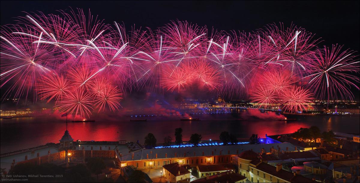 Scarlet Sails 2015: Bright fireworks show in Saint Petersburg - 7