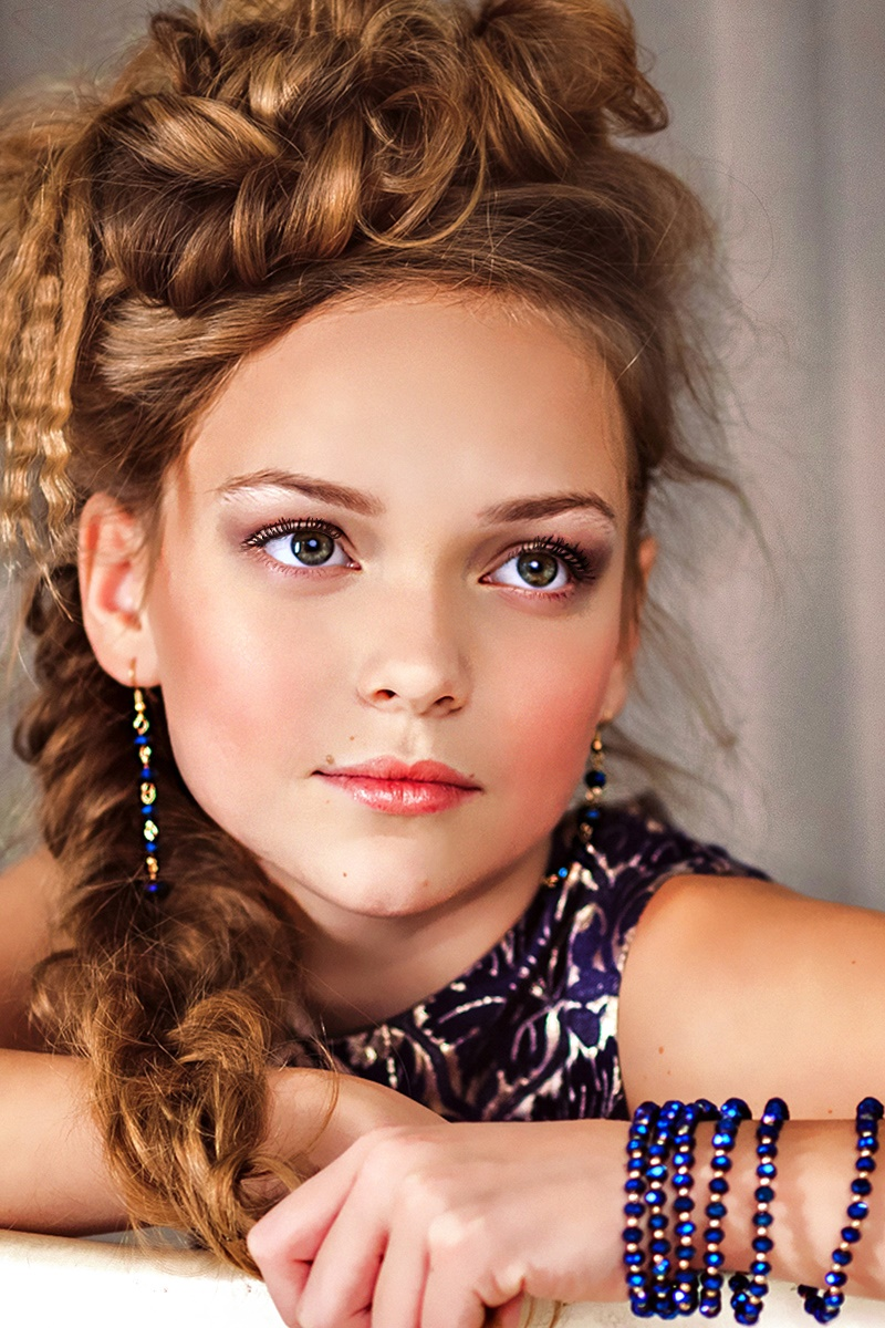 Adult childhood: Big modeling career of little Russian kids. Anastasia Klimova - 1