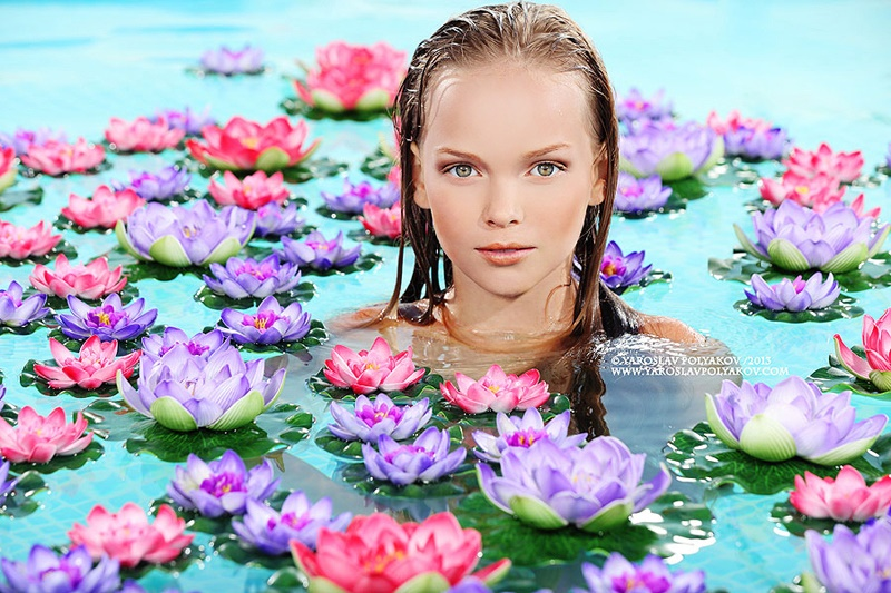 Adult childhood: Big modeling career of little Russian kids. Anastasia Klimova - 2