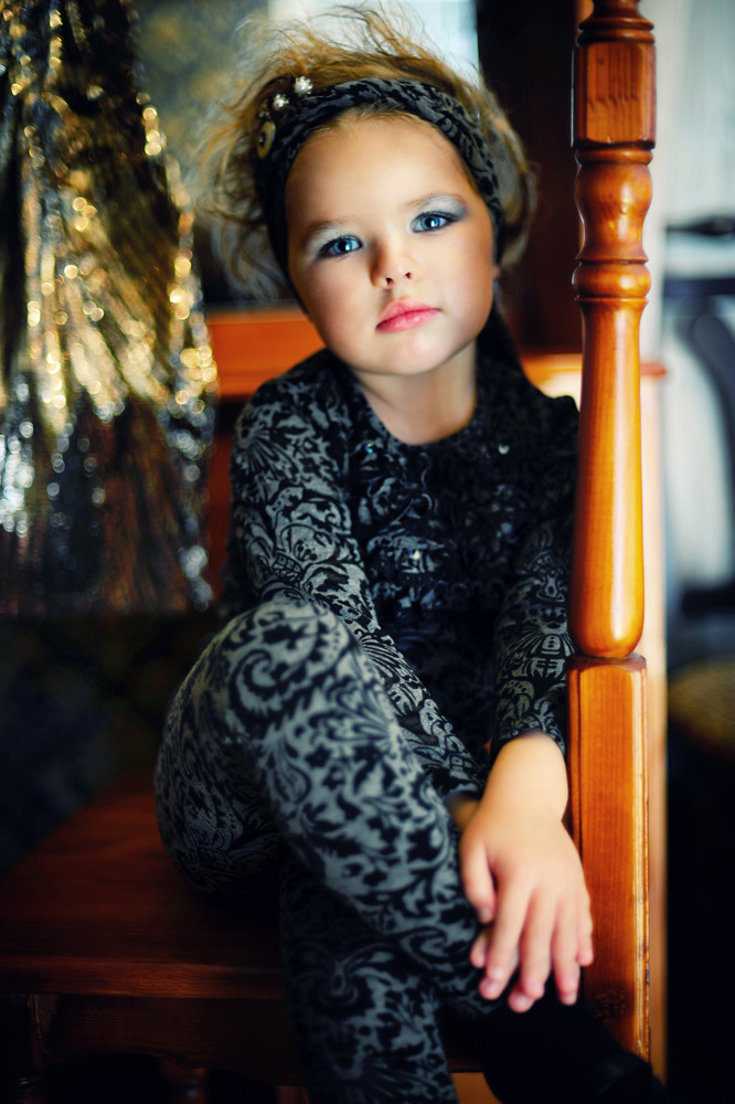 Adult childhood: Big modeling career of little Russian kids. Nellie Khudyakova - 2