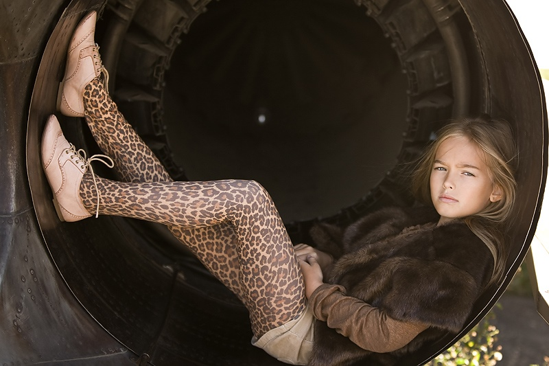 Adult childhood: Big modeling career of little Russian kids. Anastasia Bezrukova - 2