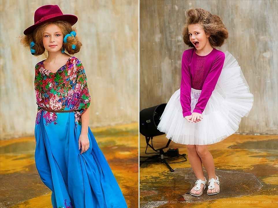 Adult childhood: Big modeling career of little Russian kids. Elizaveta Knyazeva
