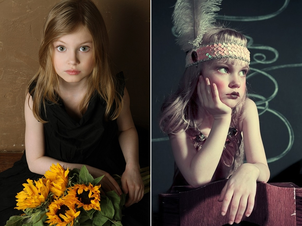 Adult childhood: Big modeling career of little Russian kids. Veronika Valuyeva