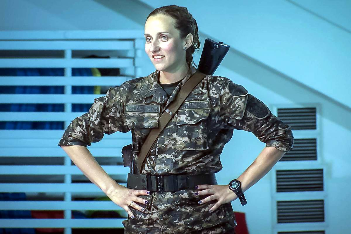 Feminine Armed Forces: Girls from the army of Kazakhstan - 16