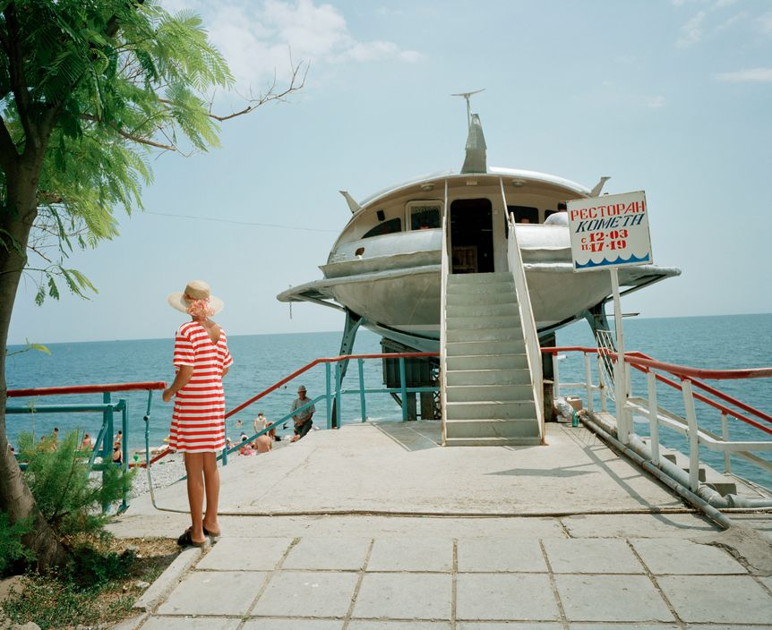 Ukraine 1990s: The city of Yalta on photos by Martin Parr - 31