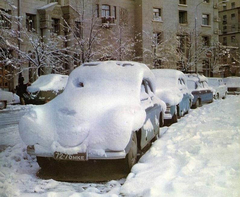 Vintage photos of the harsh winter in the era of Soviet Union - 41