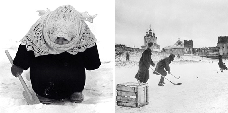 Vintage photos of the harsh winter in the era of Soviet Union - 42