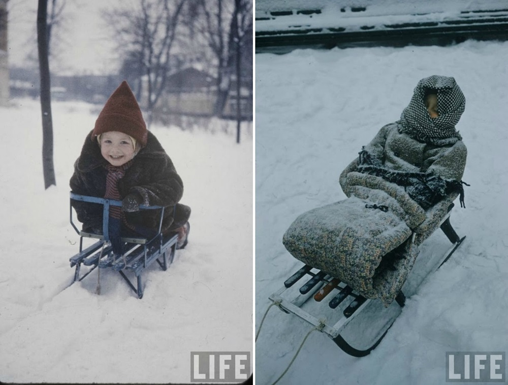 Vintage photos of the harsh winter in the era of Soviet Union - 46
