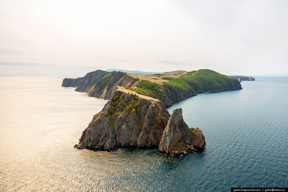 Winter and summer lake Baikal: Delightful photos from the sky - 30