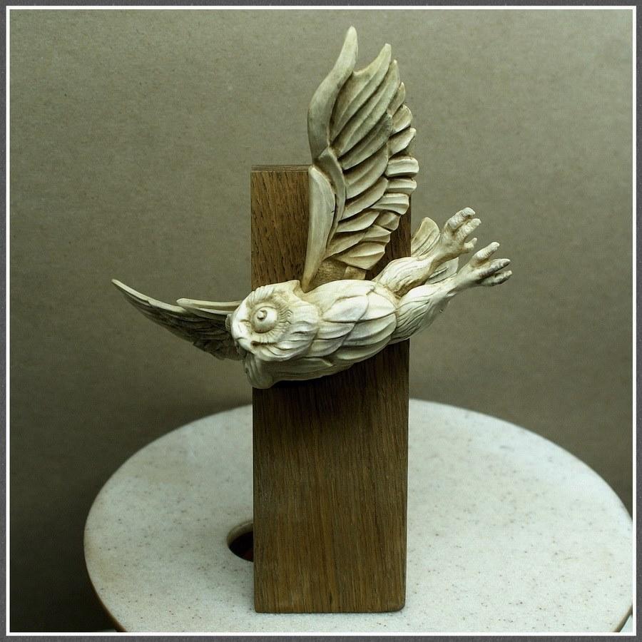 Impressive carved wood and bone figures by Andrey Sagalov - 22