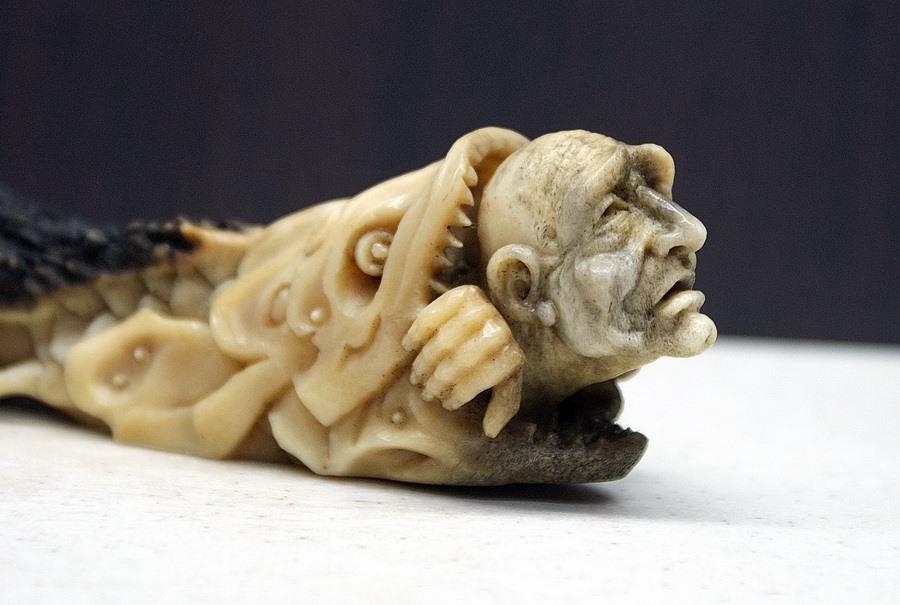 Impressive carved wood and bone figures by Andrey Sagalov - 23