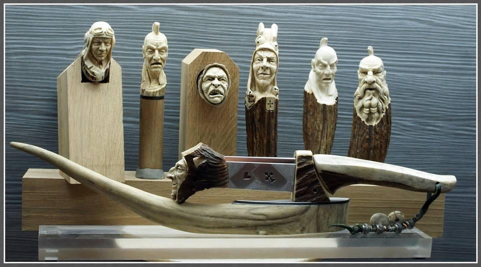 Impressive carved wood and bone figures by Andrey Sagalov - 30