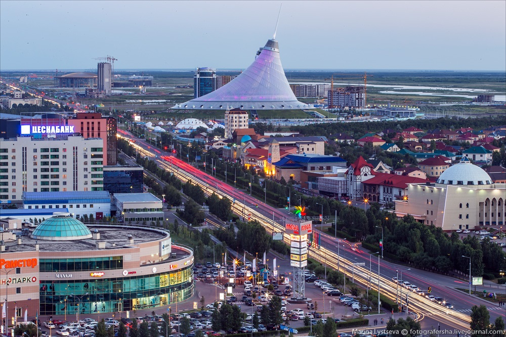 Night Astana: Urban landscapes of the capital of Kazakhstan - 11