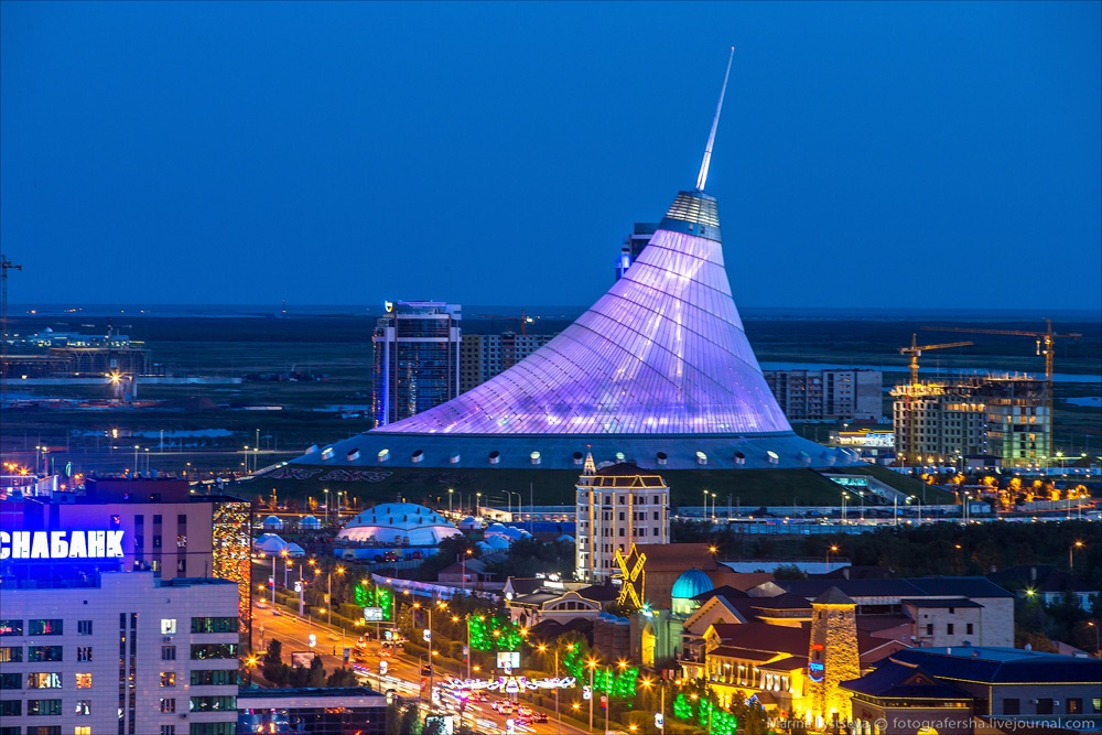 Night Astana: Urban landscapes of the capital of Kazakhstan - 12