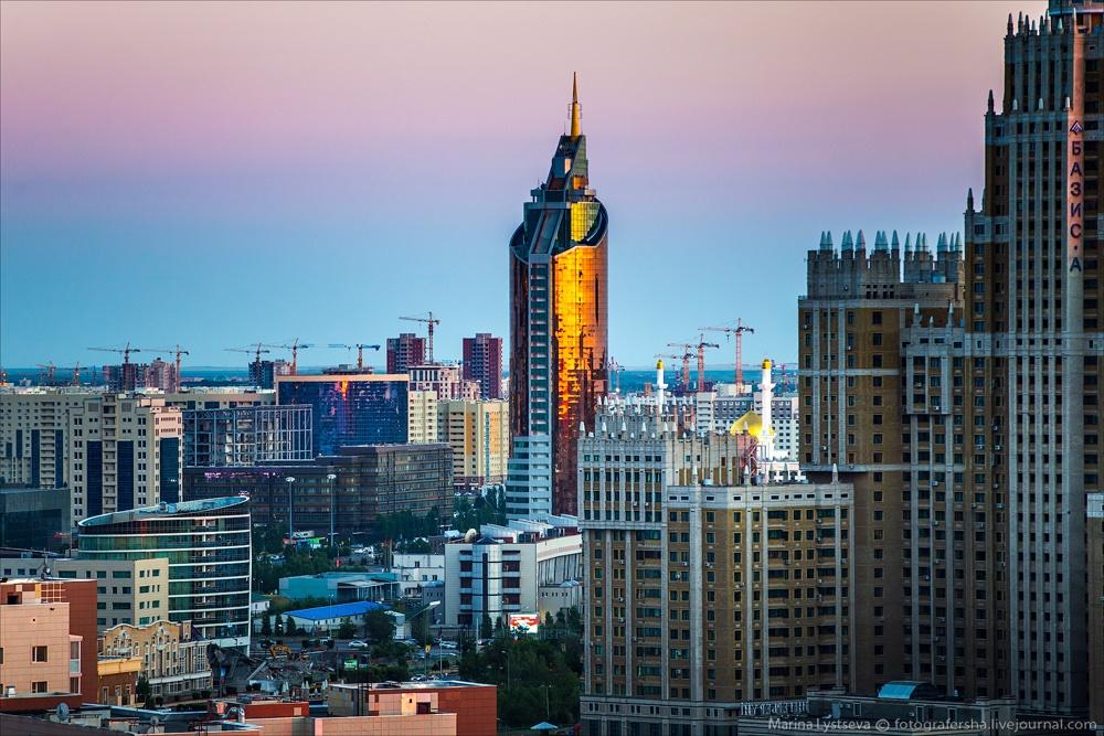 Night Astana: Urban landscapes of the capital of Kazakhstan - 13