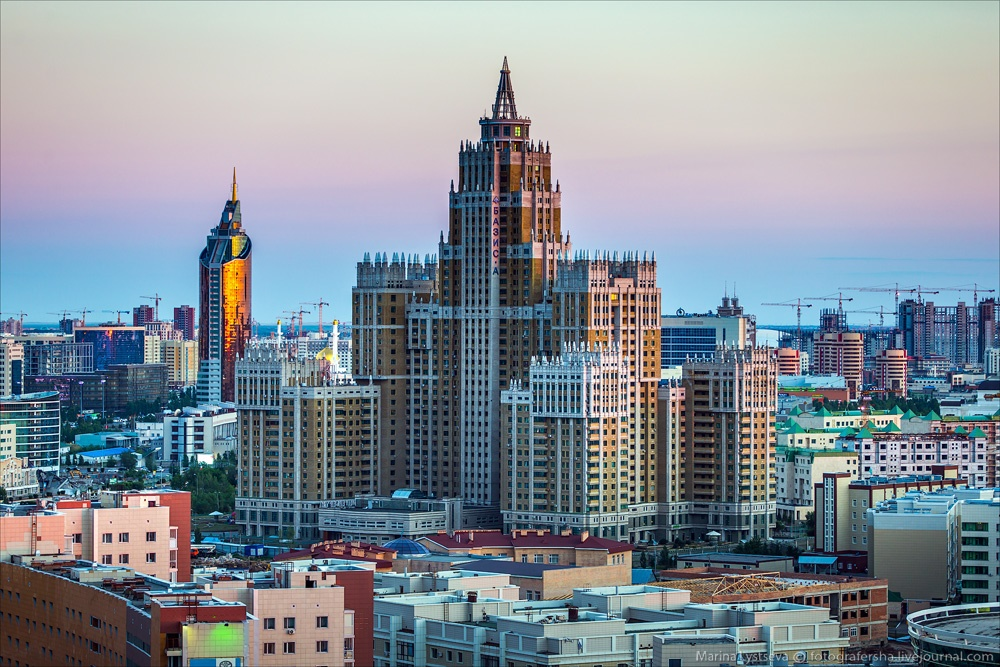 Night Astana: Urban landscapes of the capital of Kazakhstan - 14
