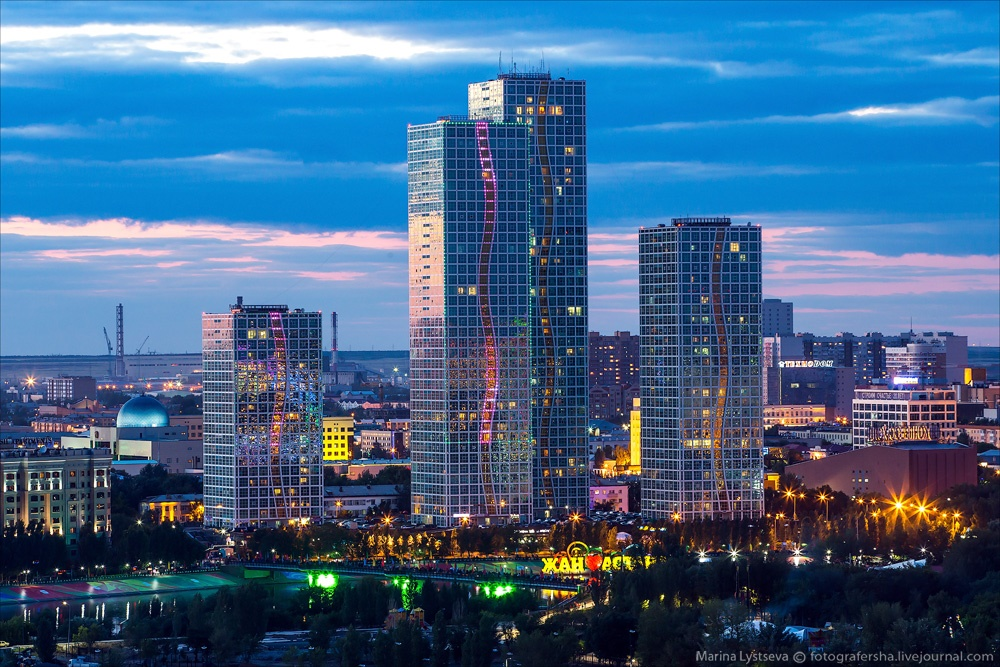 Night Astana: Urban landscapes of the capital of Kazakhstan - 35
