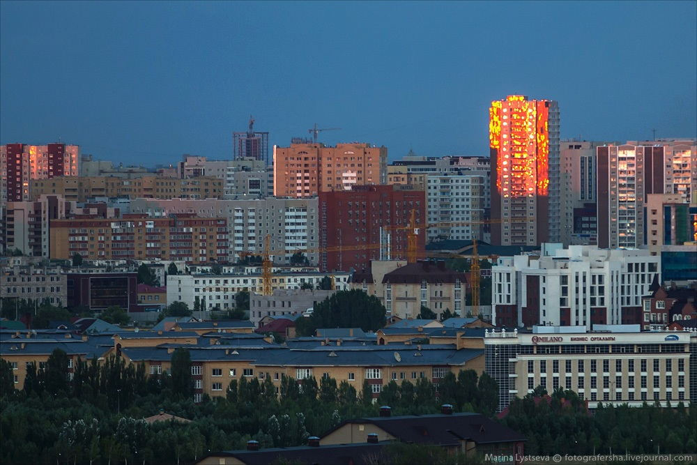 Night Astana: Urban landscapes of the capital of Kazakhstan - 8