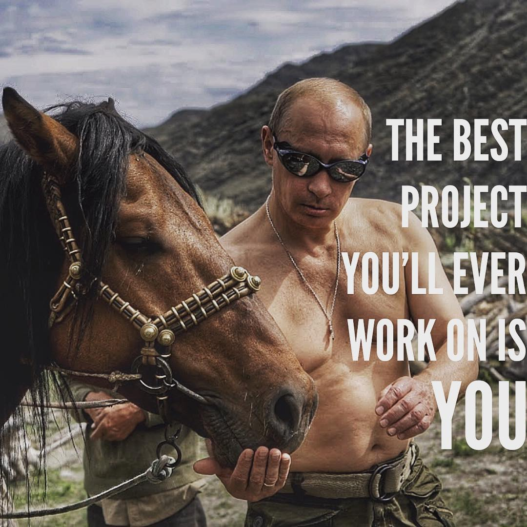 Putinspiration: sarcastic motivational pictures with Putin - 1