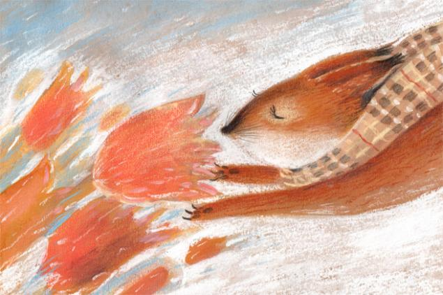 Warm Autumn on the dreamy illustrations by Diana Lapshina - 11