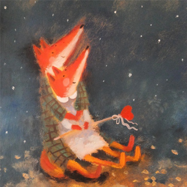 Warm Autumn on the dreamy illustrations by Diana Lapshina - 2