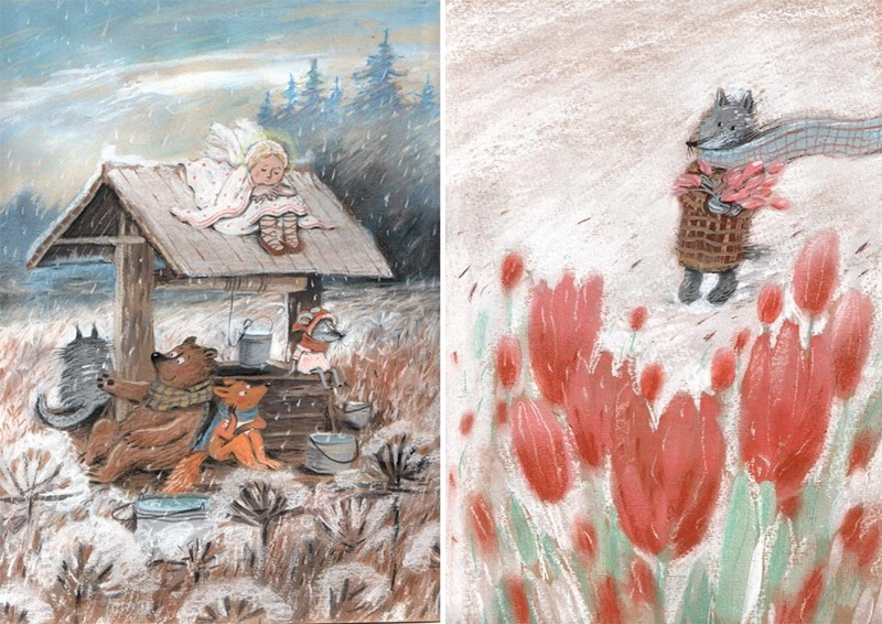Warm Autumn on the dreamy illustrations by Diana Lapshina - 21