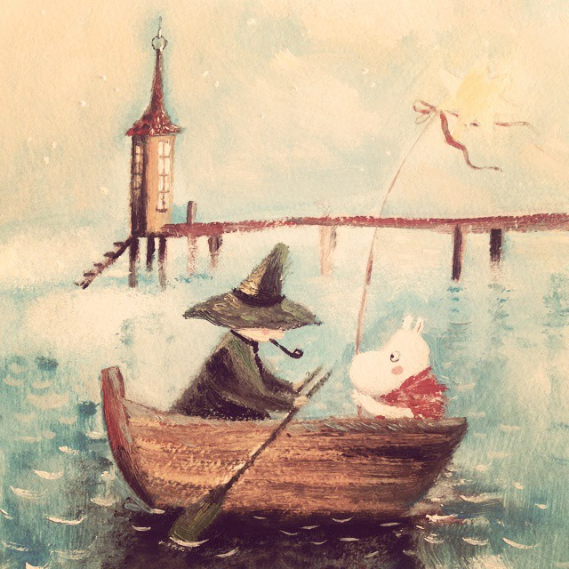 Warm Autumn on the dreamy illustrations by Diana Lapshina - 23
