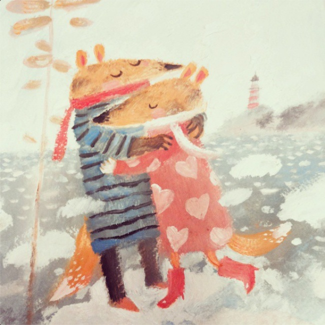 Warm Autumn on the dreamy illustrations by Diana Lapshina - 5