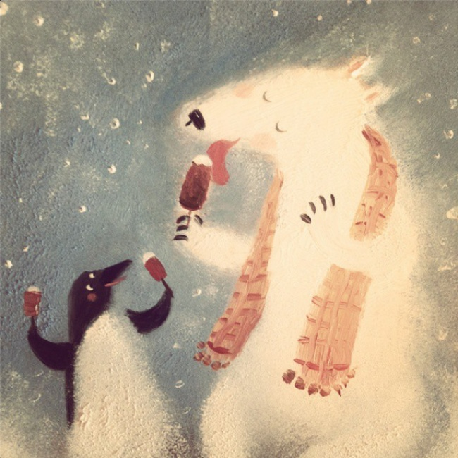 Warm Autumn on the dreamy illustrations by Diana Lapshina - 9
