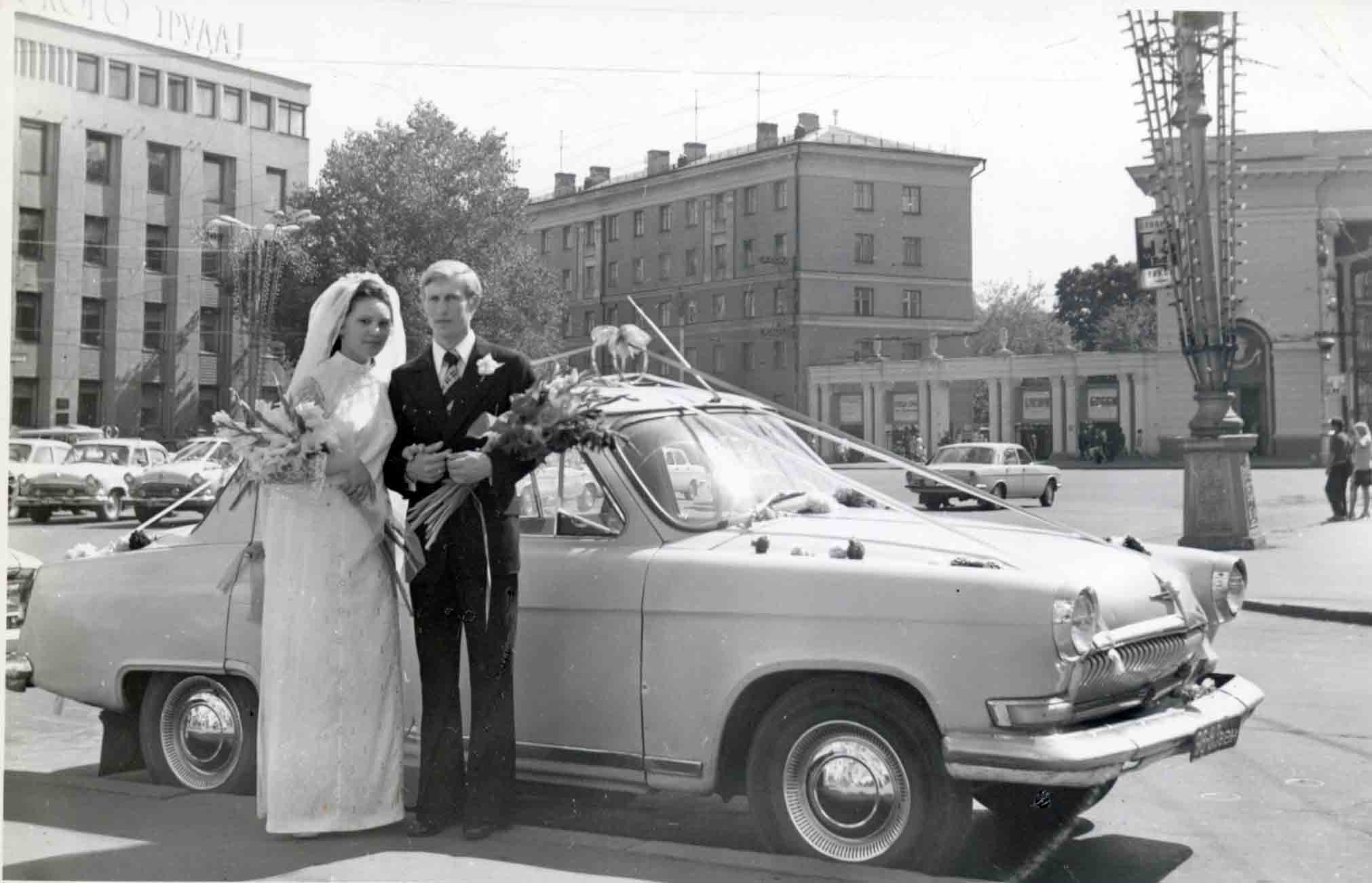 Colour of Soviet weddings on photographs of the bygone era - 59