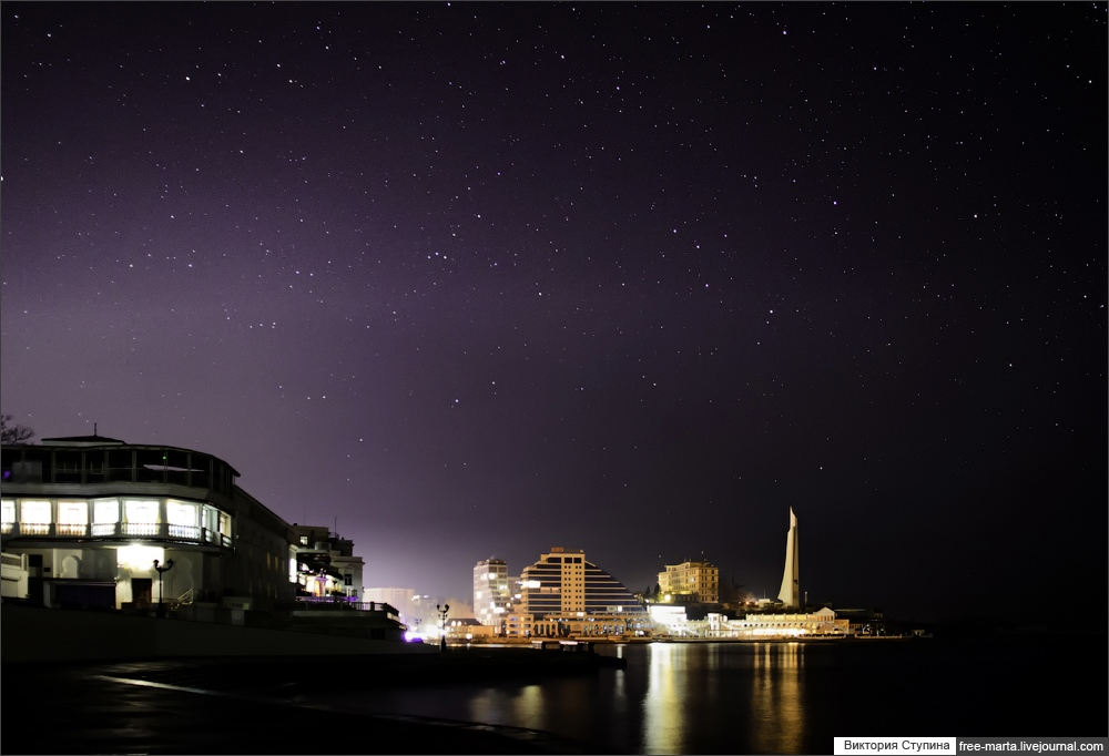 Starry sky of Sevastopol on photographs by Victoria Stupina - 12