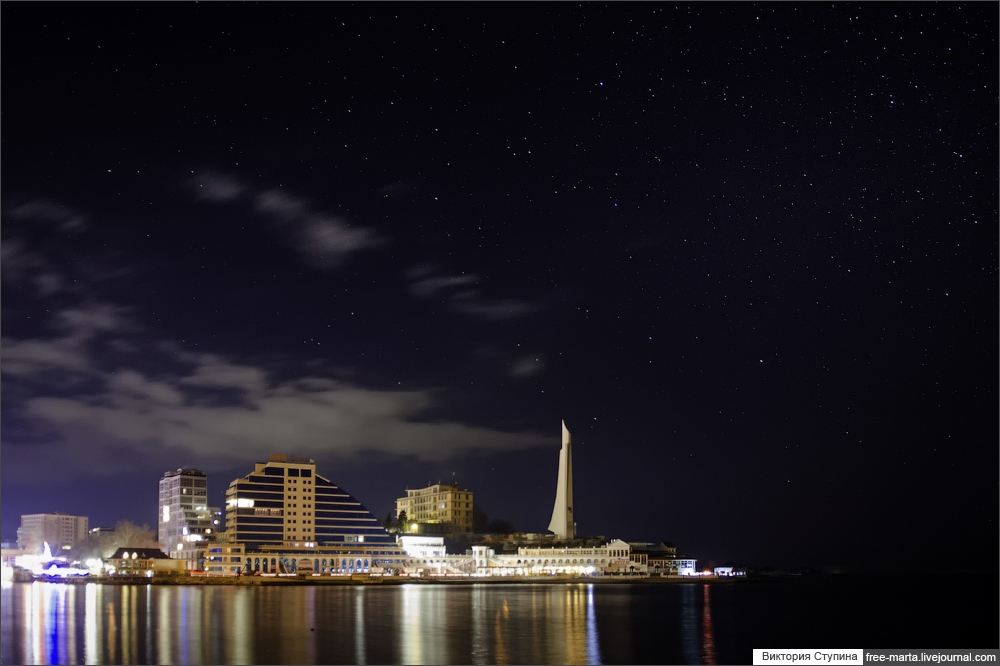 Starry sky of Sevastopol on photographs by Victoria Stupina - 22