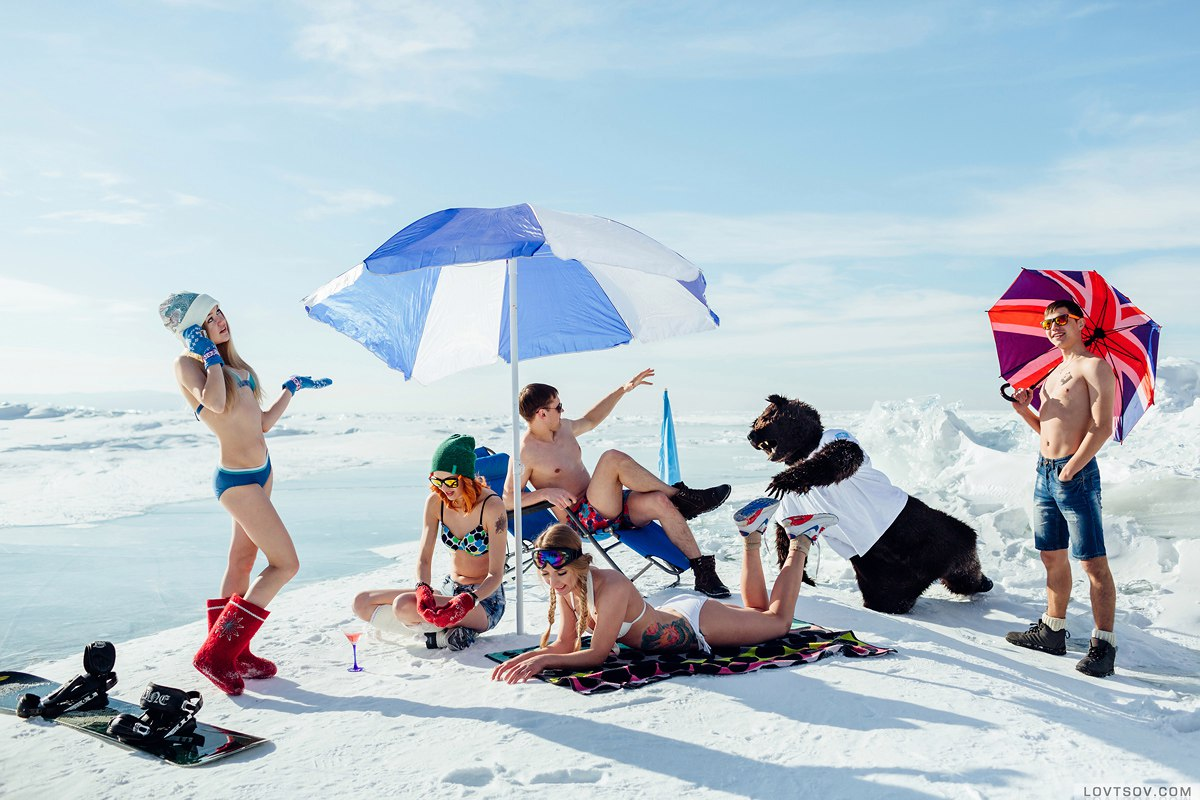 White beaches of Siberia: Frosty party on the lake Baikal - 24