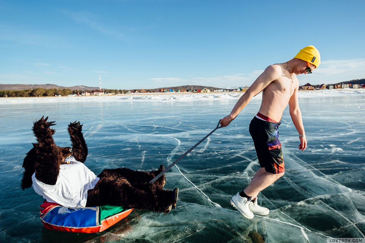 White beaches of Siberia: Frosty party on the lake Baikal - 36