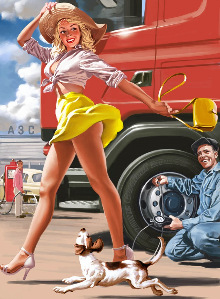 Pictures and Soviet posters in Pin-Up style by Valery Barykin - 2